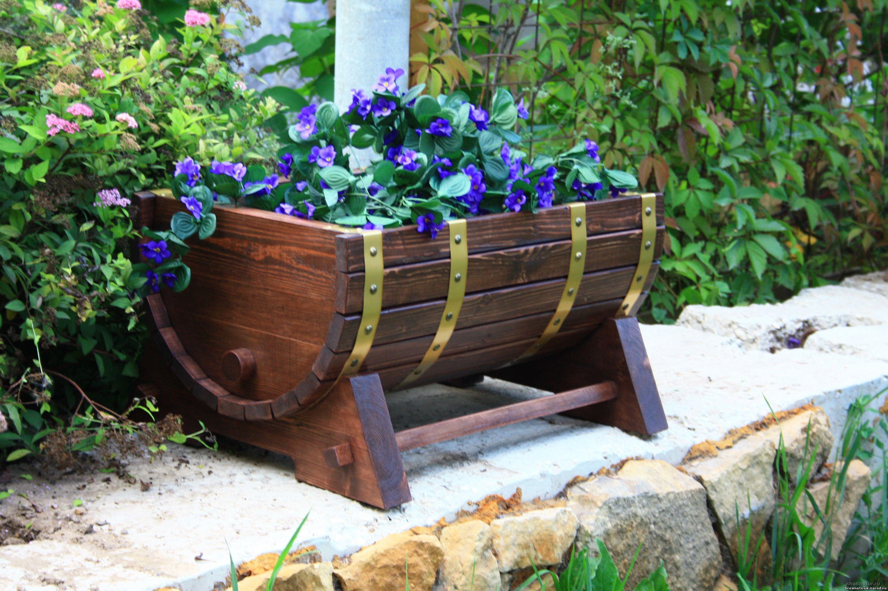 Цветочница для сада своими руками фото