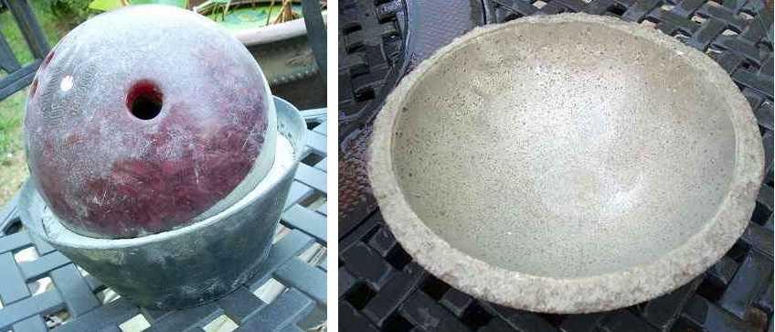 Круглая форма для заливки бетона