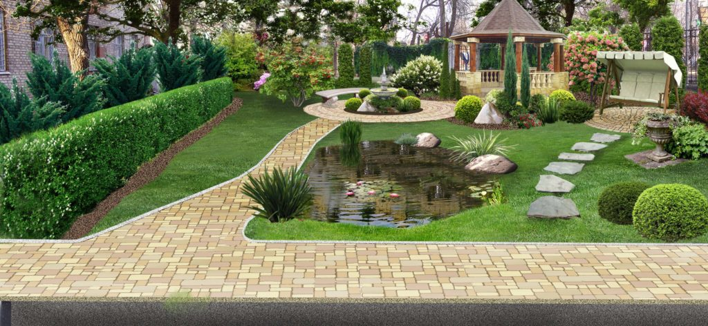 Сад и водоем