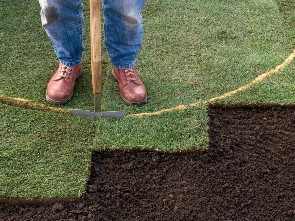 Нарезание газона требуемой формы