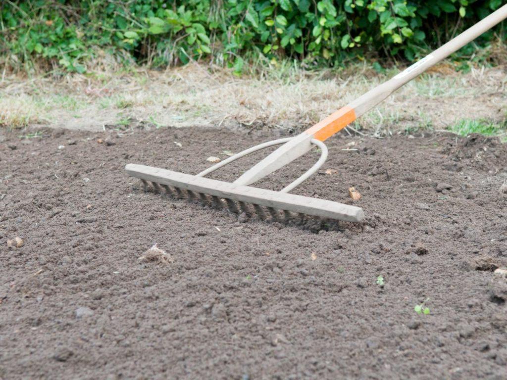Выравнивание поверхности почвы