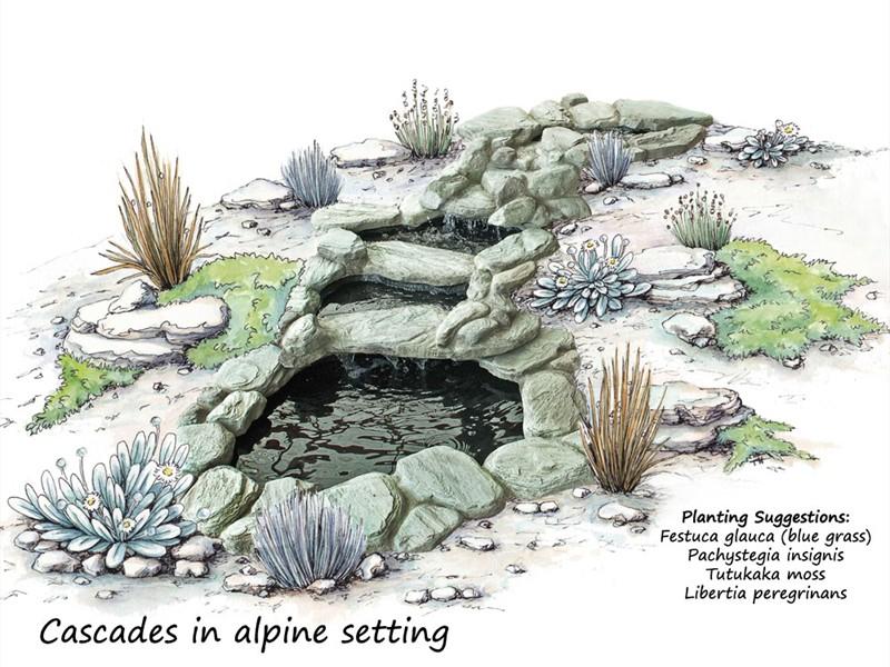 Альпинарий с водопадом