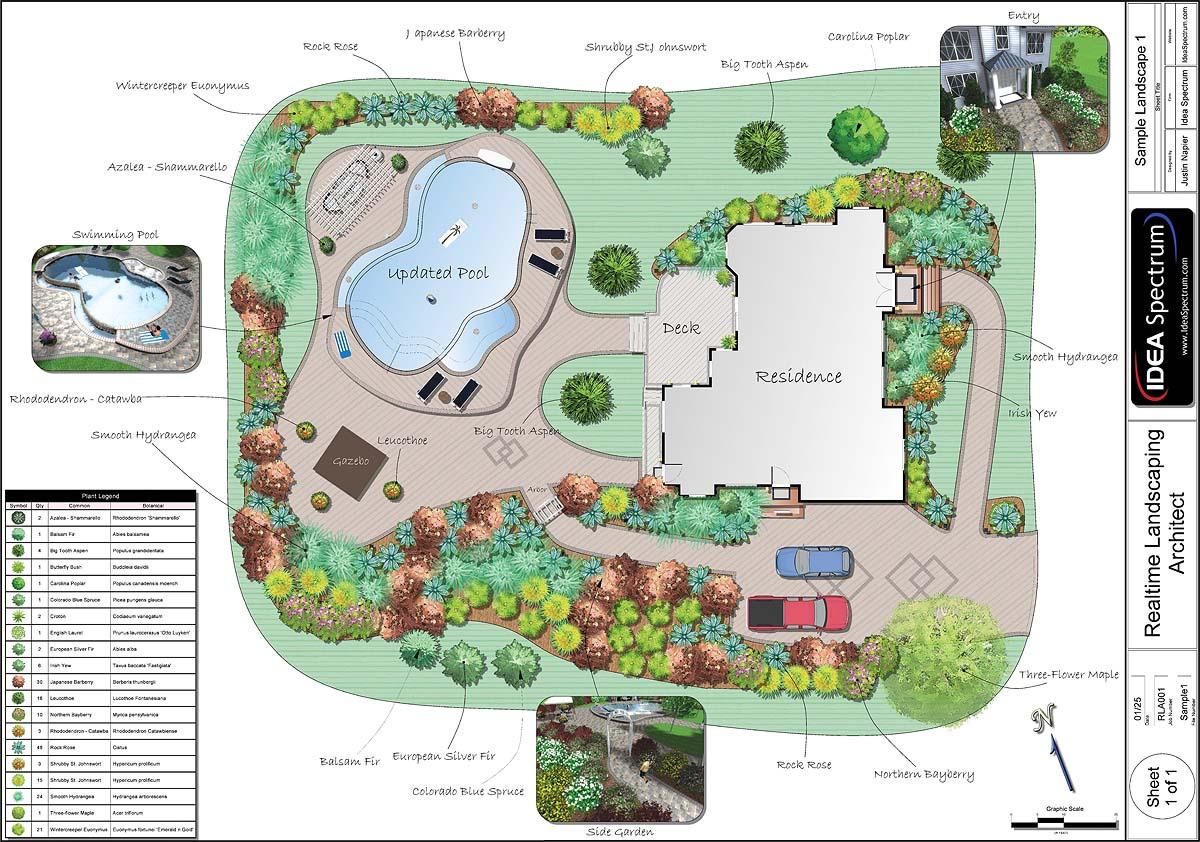 2d план, созданный в программе Realtime Landscaping Architect