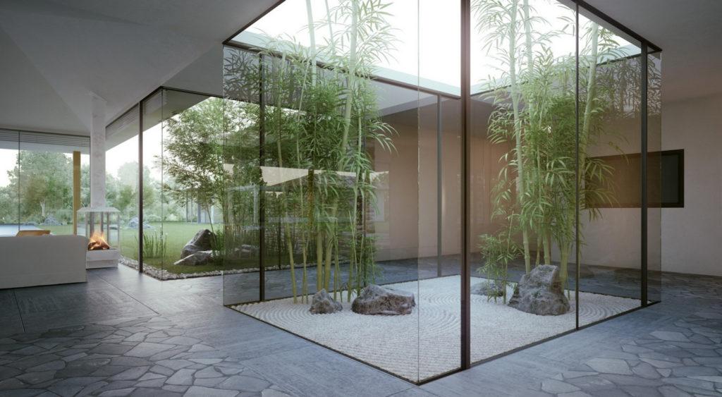 Современный сад цубо